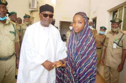 See Photo As Kano Teenager Who Killed Husband Is Released On State Pardon