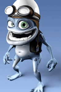 Putting the crazy frog in this post is really an insult to him.  But really, stop holding your mouse over this photo and read the crazy.  It's totally worth it.