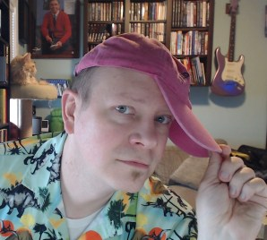 Dinosaur shirts ALWAYS go well with pink hats...