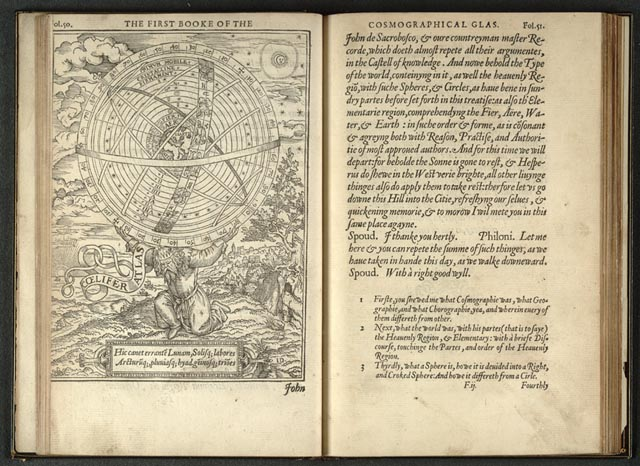 Illustration from William Cuningham's The Cosmographical Glasse (1559) represents Ptolemy's conception.