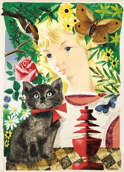 Leonard Weisgard's Stunning 1949 Alice in Wonderland Illustrations