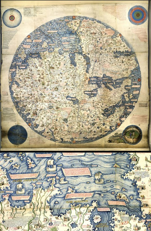 Magnificent maps cartography as power propaganda and art brain this is an 1804 copy of perhaps the first modern world map made by the venetian monk fra mauro in about 1450 it points south because 15th century gumiabroncs Gallery