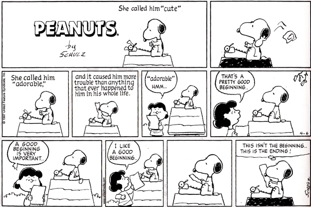 6 Rules for a Great Story from Barnaby Conrad and Snoopy