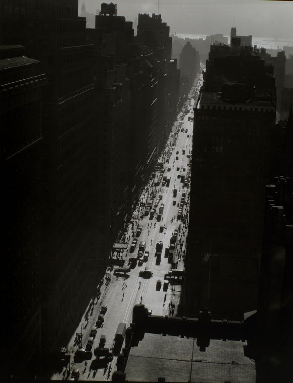 famous writers on new york timeless private reflections from  seventh avenue looking south from 35th street photograph by berenice abbott from changing new york click image for details