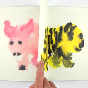 Dutch Illustrator Rop Van Mierlo's Charming Rorschach-Like Wash Paintings of Wild Animals