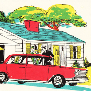 How People Live In The Suburbs: A Vintage Illustrated Gem