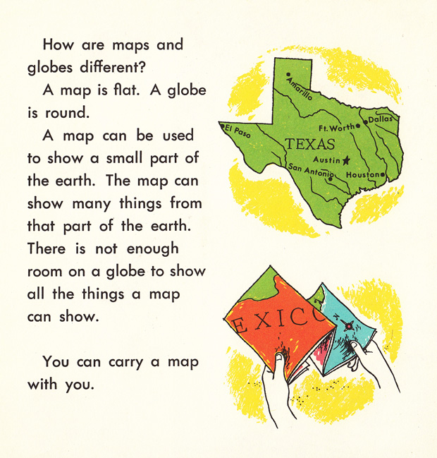 How We Use Maps and Globes An Illustrated Guide from 1968 Brain