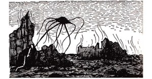 Edward Gorey's Vintage Illustrations for H. G. Wells's <em>The War of the Worlds</em>