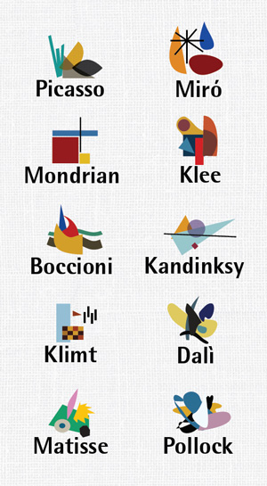 The Lives of 10 Famous Painters, Visualized as Minimalist Infographic Biographies