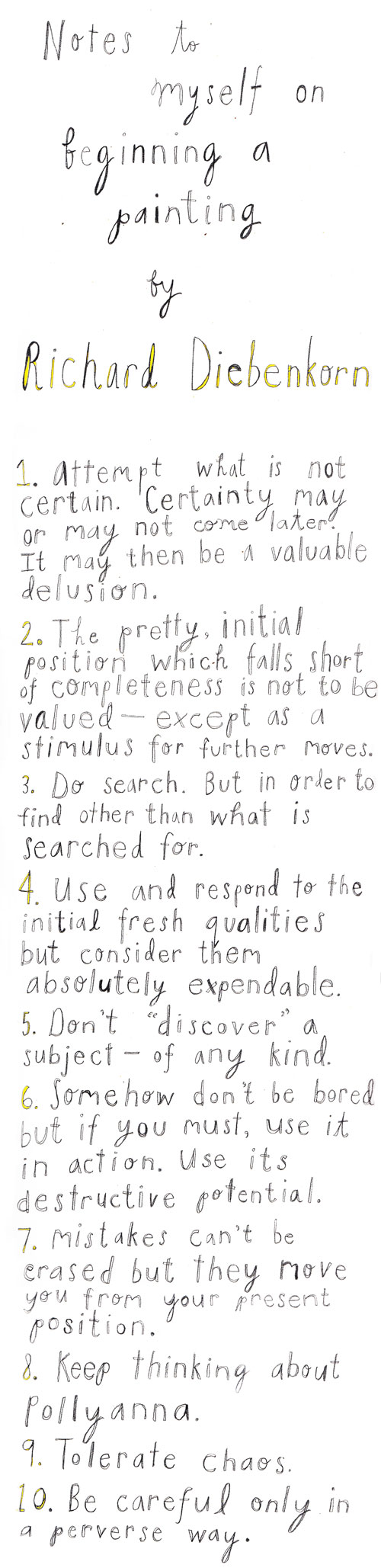 10 Rules for Creative Projects from Iconic Painter Richard Diebenkorn