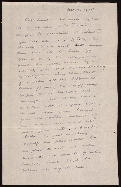 letter from margaret mead to ruth benedict october 1925 library of congress