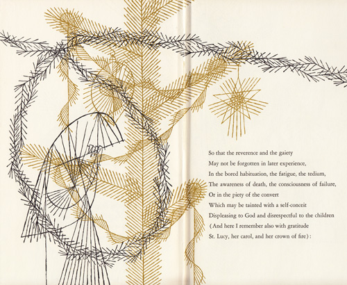 """There are several attitudes towards Christmas, Some of which we may  disregard: The social, the torpid, the patently commercial, - T. S. Eliot's €�The Cultivation Of Christmas Trees"""": A Rare Vintage"""