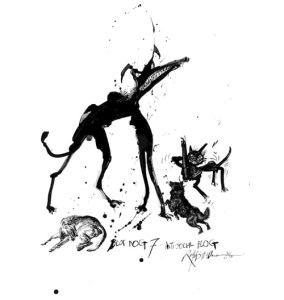 Legendary Cartoonist Ralph Steadman's Inkblot Dog Drawings