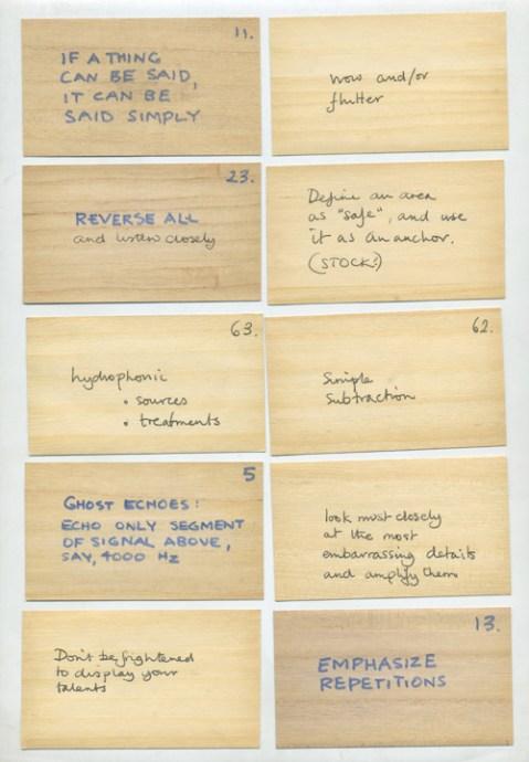 Oblique Strategies © 1975, 1978, 1979 Brian Eno/Peter ...