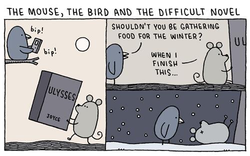Tom Gauld's Brilliant Literary Cartoons Blur the Artificial