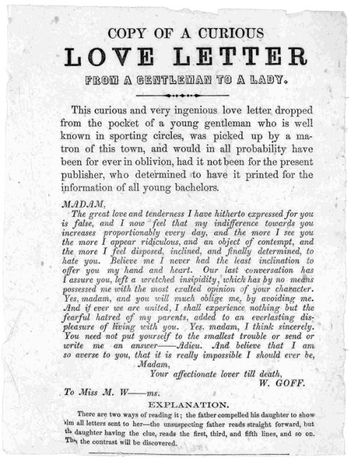 From A Gentleman To A Lady: A Clever Cryptographic Love Letter