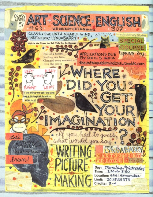 Image result for lynda barry syllabus