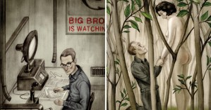 Haunting Illustrations for Orwell's 'Nineteen Eighty-Four,' Introduced by the Courageous Journalist Who Broke the Edward Snowden Story