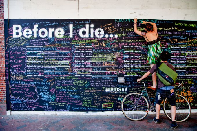 Art from Candy Chang's project Before I Die