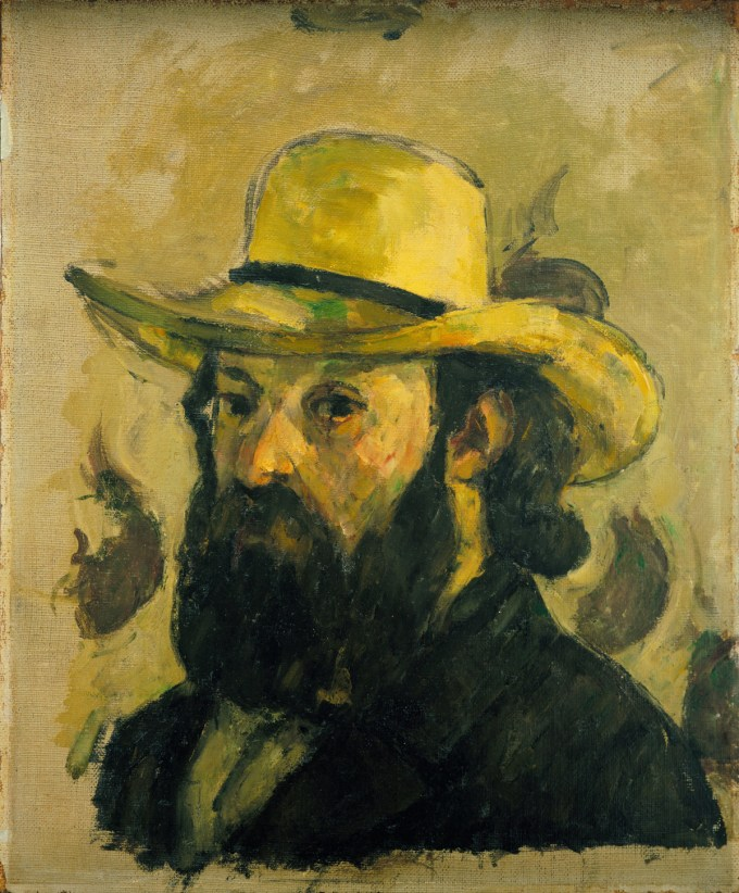 """Self-Portrait in a Straw Hat"""