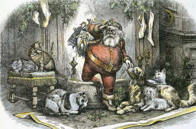 """The Coming of Santa Claus"" by Thomas Nast, 1872"