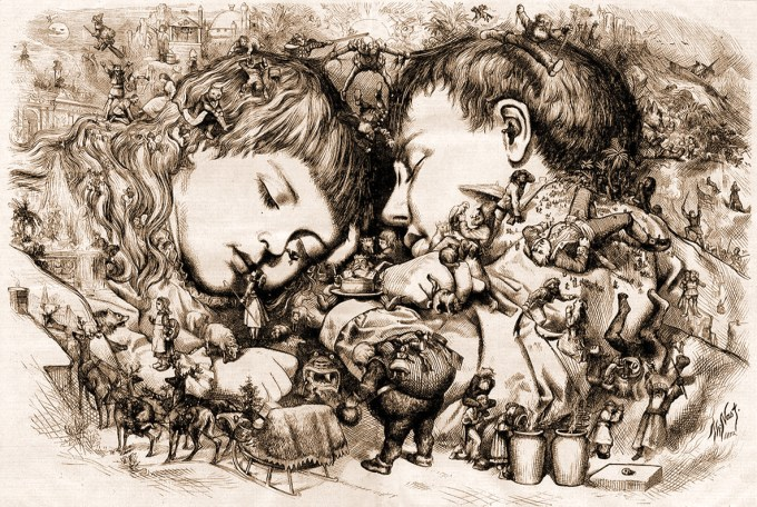 """The Christmas Dream"" by Thomas Nast, 1871"