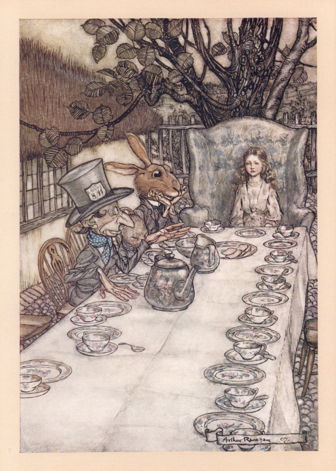 How Arthur Rackham S 1907 Drawings For Alice In Wonderland Revolutionized The Carroll Classic The Technology Of Book Art And The Economics Of Illustration Brain Pickings