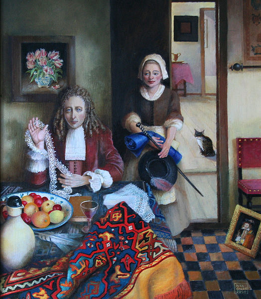 'Robert Hooke' at home by Rita Greer