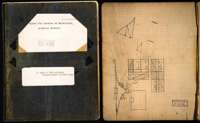Albert Einstein's Zurich notebook, containing his early lecture notes on relativity (Albert Einstein Archive)