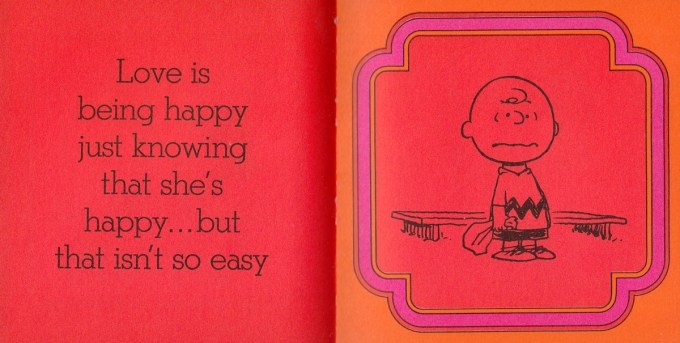 Art from Love Is Walking Hand in Hand by Charles Schulz, 1965