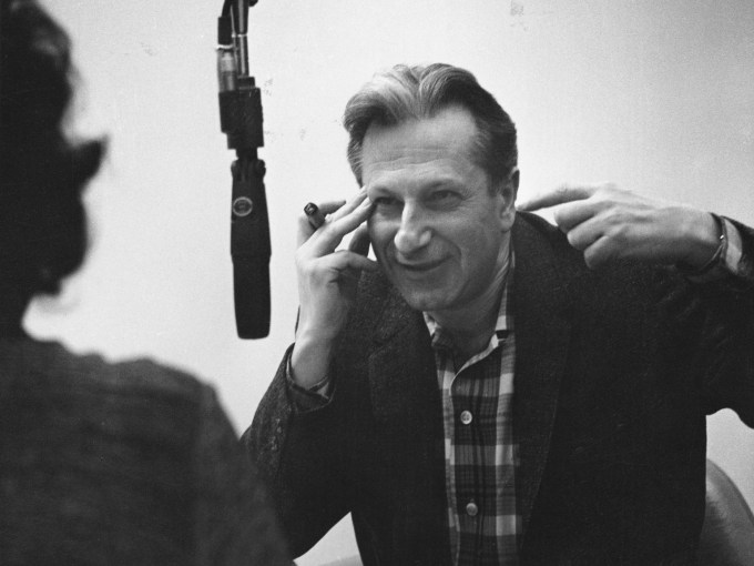 Studs Terkel at the studio