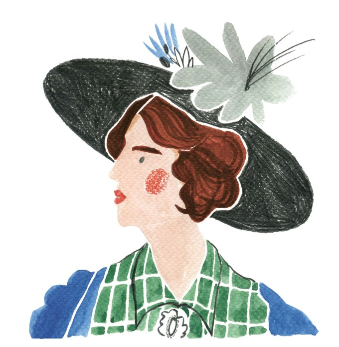 Drawing of Vita Sackville-West by Nina Cosford from Virginia Woolf: An Illustrated Biography