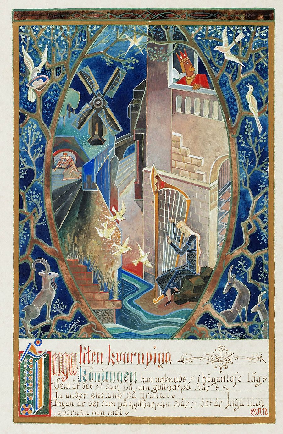 Beautiful Vintage Illustrations for Scheherazade's Stories and Scandinavian Fairy Tales by Swedish Modernist Pioneer GAN