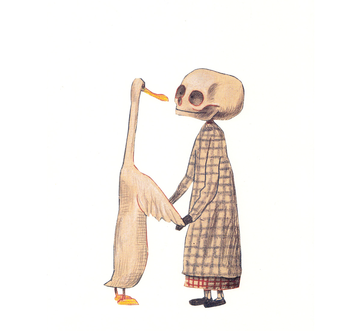 Art From Duck, Death And The Tulip By Wolf Erlbruch, An Uncommonly Tender  Illustrated Meditation On Life And Death
