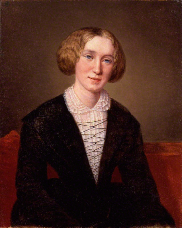 George Eliot by Alexandre Louis François d'Albert Durade