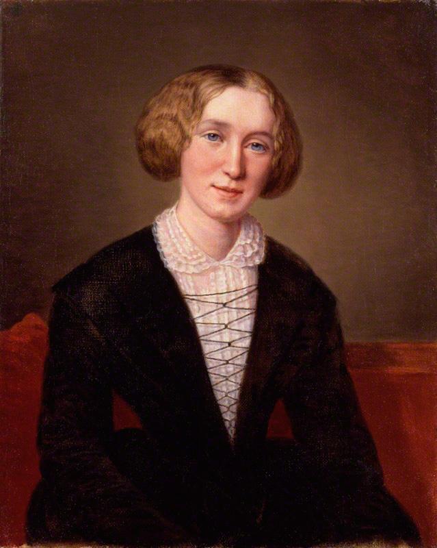 George Eliot by Alexandre Louis François d'Albert Durade