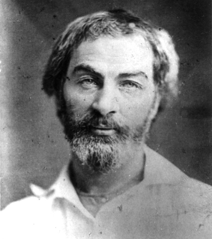 Walt Whitman circa 1854 (Library of Congress)