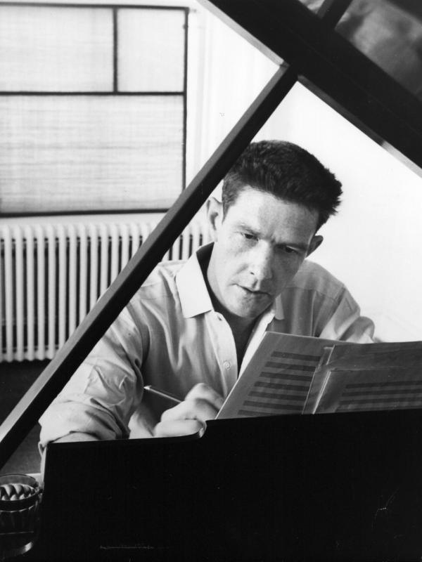 John Cage age his piano, 1947 (Photograph courtesy of the John Cage Trust / Berliner Festspiele)
