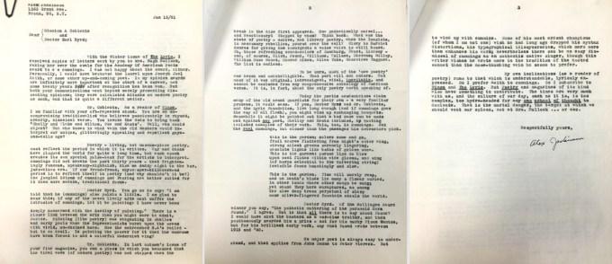 Alex Jackinson's letter