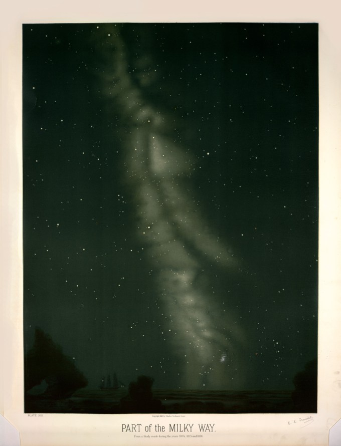 Part of the Milky Way, from a study made between 1874 and 1876