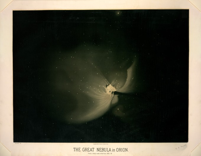 The great nebula in Orion, from a study made between 1875 and 1876