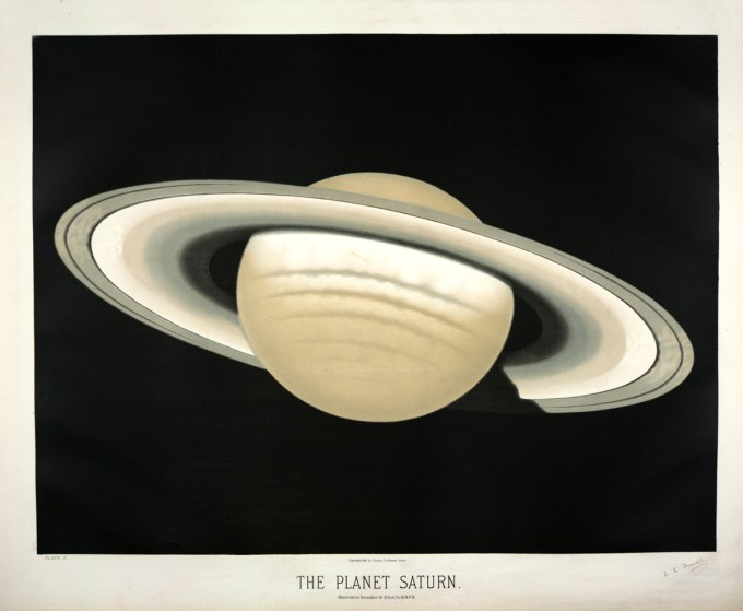 The planet Saturn, observed on November 30, 1874, 5:30 P.M.