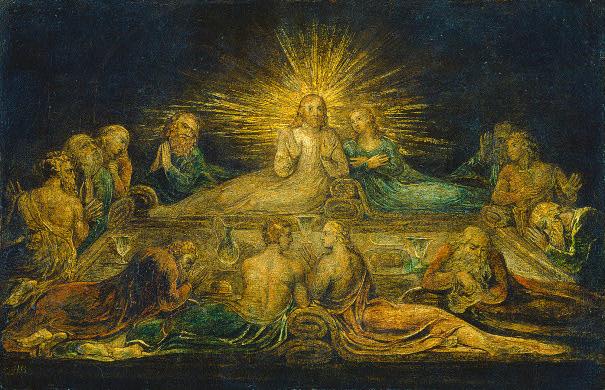 "William Blake, ""The Last Supper"""