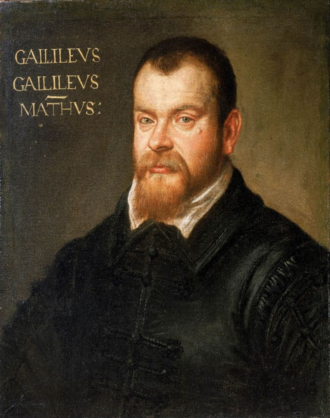 Galileo at age 42. Portrait by Domenico Robusti.