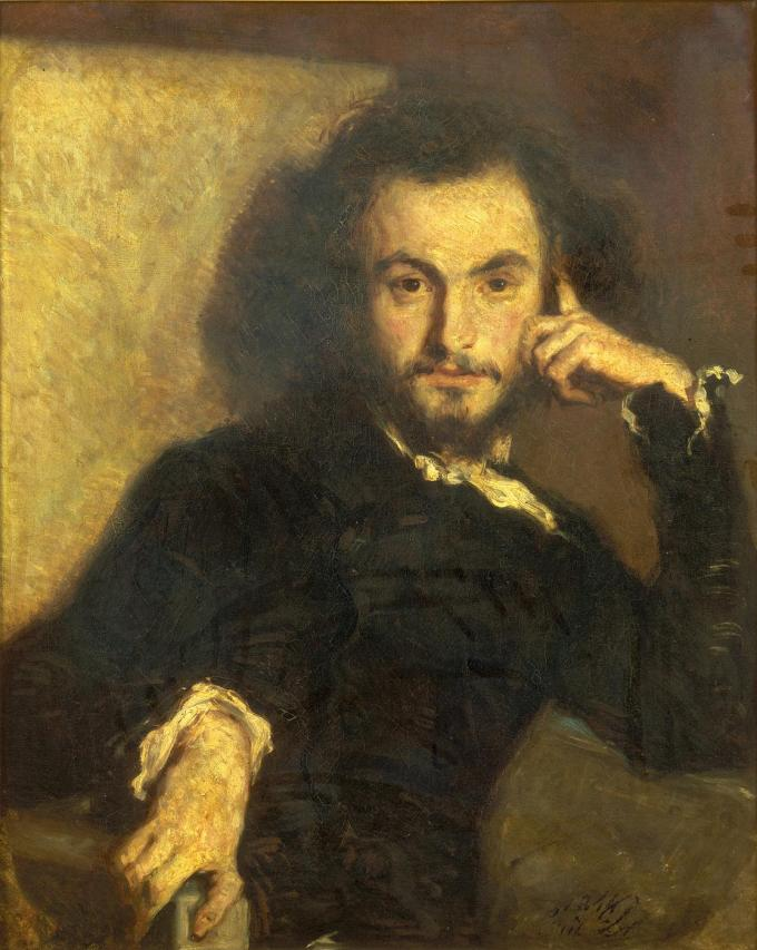 Portrait of Baudelaire by Emile Deroy, 1844