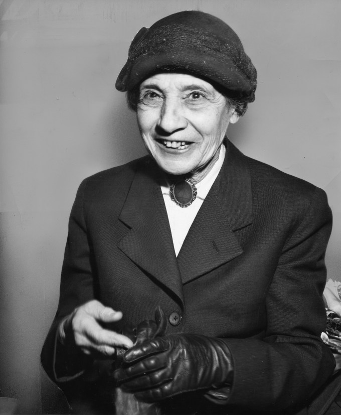 Lise Meitner late in life (Photograph: Sara Darling)