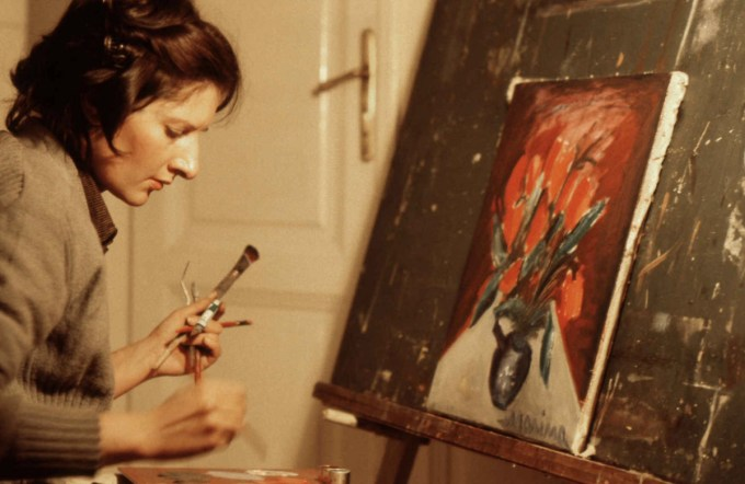 Abramović, age 22, at her painting studio in Belgrade