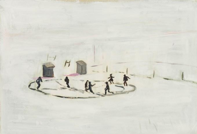 Illustration by Maira Kalman, based on Children Playing in Snow by John Vachon, 1940. (Courtesy of The Museum of Modern Art © Maira Kalman)