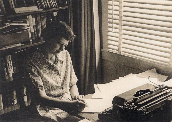 IPAR researcher Ravenna Helson at her desk, c. 1960