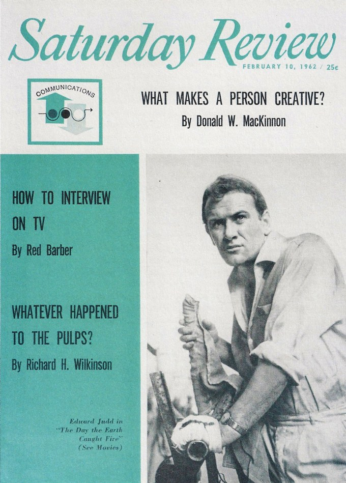 "Cover of the Saturday Review, February 10, 1962, featuring Donald MacKinnon's article ""What Makes a Person Creative?"""